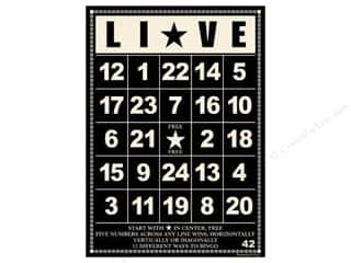 "Jenni Bowlin Bingo Cards Bulk 5""x 7"" Live Black (10 pieces)"