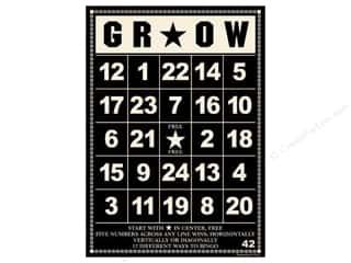 "Cards: Jenni Bowlin Bingo Cards Bulk 5""x 7"" Grow Black (10 pieces)"