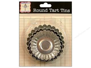 Jenni Bowlin Embellishment Tart Tin Round Astd 3pc