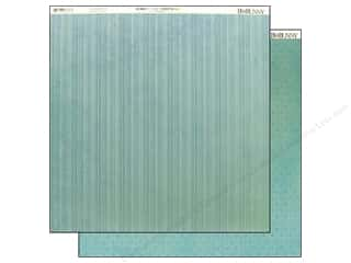 Bo Bunny 12 x 12 in. Paper Dot Stripe Ocean (25 sheets)
