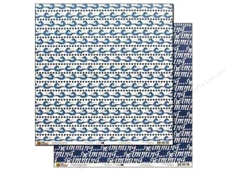 Scrappin' Sports Blue: Scrappin Sports Paper 12x12 The Sport Is Swimming (25 sheets)