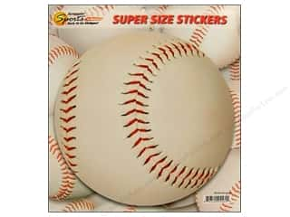 Sports Stickers: Scrappin Sports Sticker Super Size Baseball