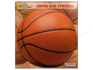 Scrappin Sports Sticker Super Size Basketball