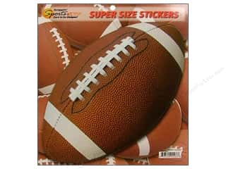 Scrappin Sports Sticker Super Size Football