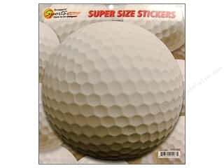 Sports Stickers: Scrappin Sports Sticker Super Size Golf