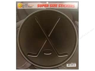 Sports Stickers: Scrappin Sports Sticker Super Size Hockey