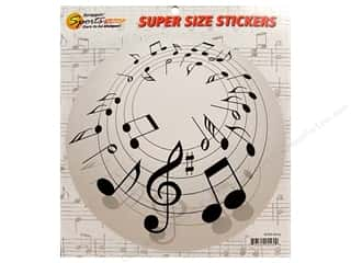 Sports Stickers: Scrappin Sports Sticker Super Size Music