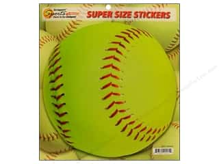 Scrappin Sports Sticker Super Size Softball
