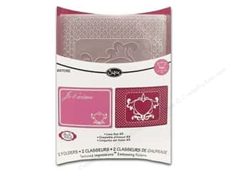 Glitter Love & Romance: Sizzix TI Embossing Folder 2PK Love Set #3 by Brenda Pinnick