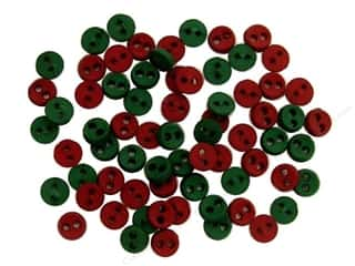Jesse James Embellishments Micro-Minis Round Red/Green
