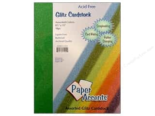 "Paper Accents Cardstock Variety Pack  8.5""x 11"" Assorted Glitz 10pc"
