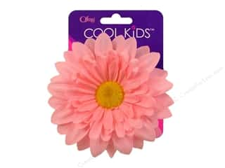 Offray Cool Kids Clip/Pin 4&quot; Flower Light Pink