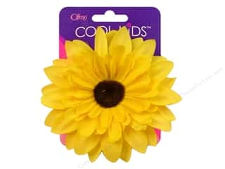 Offray Cool Kids Clip/Pin 4&quot; Flower Yellow