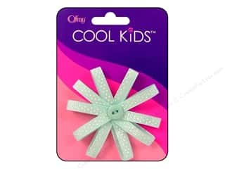 offray bow: Offray Cool Kids Bow Mini Dot Flower Blue/Wht