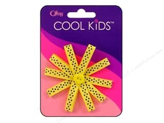 Offray Cool Kids Bow Mini Dot Flower Yellow/Blk