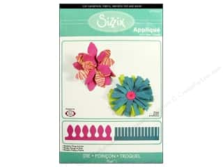 Sizzix Bigz L Die Borders, Fringe &amp; Frolic (Flowers, 3-D)