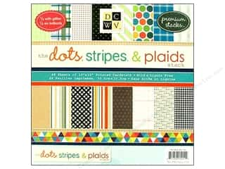 2013 Crafties - Best Scrapbooking Supply DieCuts Paper Stacks: Die Cuts 12 x 12 in. Paper Stack Dots, Stripes & Plaids