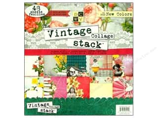 DieCuts 12 x 12 in. Paper Stack Vintage Collage
