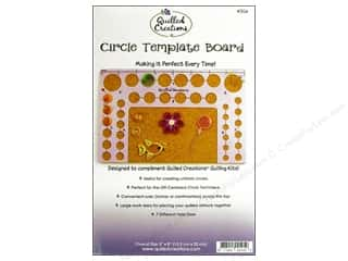 "Quilling: Quilled Creations Tools Circle Template Board 5""x 8"""