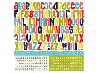 Border Stickers / Corner Stickers: Echo Park Sticker 12x12 Playground Alphabet (15 sheets)