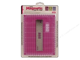 Brandtastic Sale We R Memory Keepers: We R Memory Magnetic Cutting Mat &amp; Ruler 6&quot; Pink