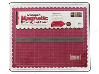 "Rotary Cutting Rotary Mats: We R Memory Magnetic Cutting Mat & Ruler 18"" Pink"