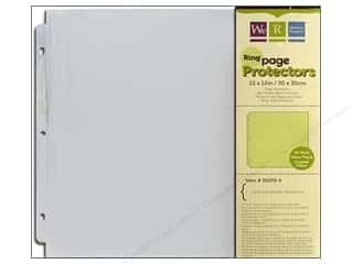 "Page Protectors Clearance Crafts: We R Memory Page Protectors Ring 12""x 12"" 10pc"