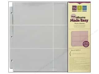 "Page Protectors 6 x 6: We R Memory Photo Sleeve Post 12""x 12"" 4""x 6"" 10pc"