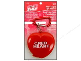 Measuring Tapes/Gauges Yarn Accessories: Bates Accessories Tape Measure Heart Shaped