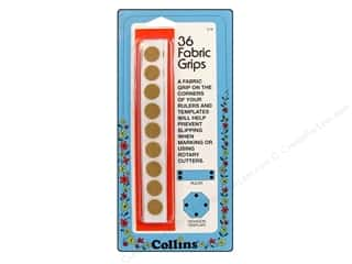 quilting notions: Collins Fabric Grips Sandpaper Dots 36pc