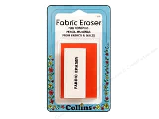 Erasers Fabric Markers, Temporary & Permanent: Fabric Eraser by Collins 1 x 2 1/4 in.