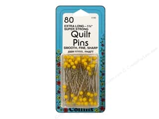 Quilt Pins by Collins 1 3/4 in. Yellow Head 80 pc.