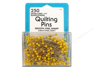 "Collins Pins Quilting 1.75"" Yellow Head 250pc"
