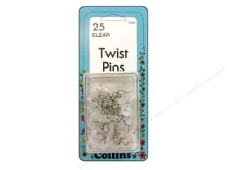 Weekly Specials Pins: Collins Pins Twist Clear 25pc