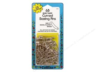 curved safety pin: Curved Basting Pins Brass by Collins 1 1/2 in. 65 pc.