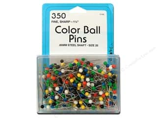 "straight pins: Collins Pins Color Ball 1.25"" 350pc"