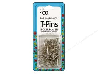 "sewing pins: Collins Pins T-Pins 1.25"" 100pc"