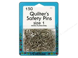 sewing pins: Quilter's Safety Pins by Collins 1 in. 150 pc.