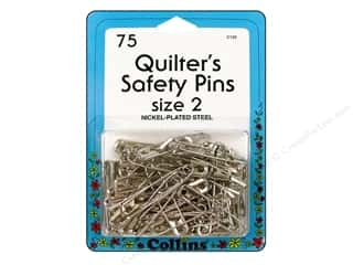 curved safety pin: Collins Quilter's Safety Pins Size-2 75pc