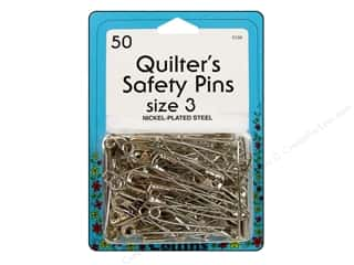 curved safety pin: Collins Quilter's Safety Pins Size-3 50pc