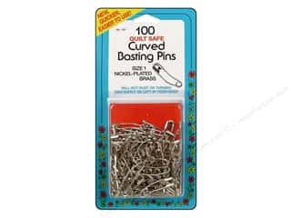 imperial pins: Collins Pins Curved Basting Size 1 100pc