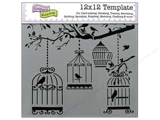 Clearance The Crafters Workshop Template: The Crafter's Workshop Template 12 x 12 in. Birds Of A Feather