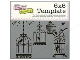 Crafter's Workshop, The Animals: The Crafter's Workshop Template 6 x 6 in. Birds Of A Feather