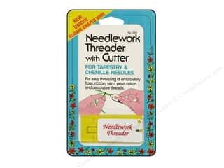 Collins Needle Threader Needlework With Cutter