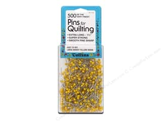 6mm: Quilter's Pins by Collins 1 3/4 in. Yellow 500 pc.