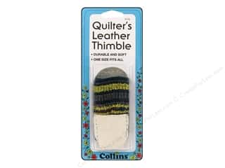 Finger Protector/Thimbles: Quilter's Leather Thimble by Collins