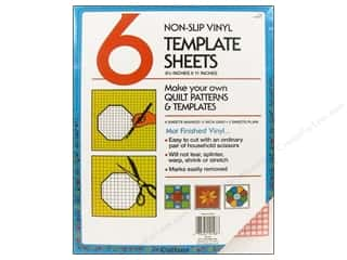 "quilting notions: Collins Vinyl Template Sheet 8.5x11"" With Grid 6pc"