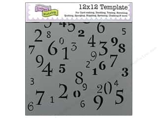 The Crafters Workshop Template 12x12 Numerals