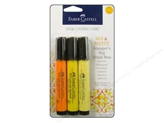 Faber Castell FaberCastell Stampers Big Brush Pen: FaberCastell Stamper's Big Brush Pen Mix & Match Set Yellow