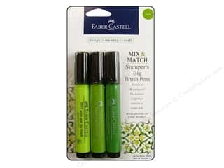 Faber Castell FaberCastell Stampers Big Brush Pen: FaberCastell Stamper's Big Brush Pen Mix & Match Set Green